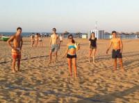 Alumnos en las playas de Valencia